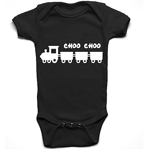 'Choo Choo Train' Cute Baby Body a maniche corte