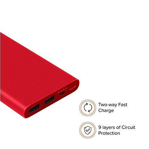 Mi 10000mAH Li-Polymer Power Bank 2i (Red) with 18W Fast Charging Image 4