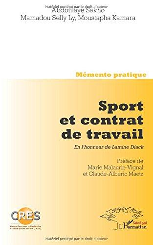 Sport et Contrat de Travail en l'Honneur de Lamnie Diack