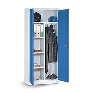 Universalschrank groß mit blauen Türen
