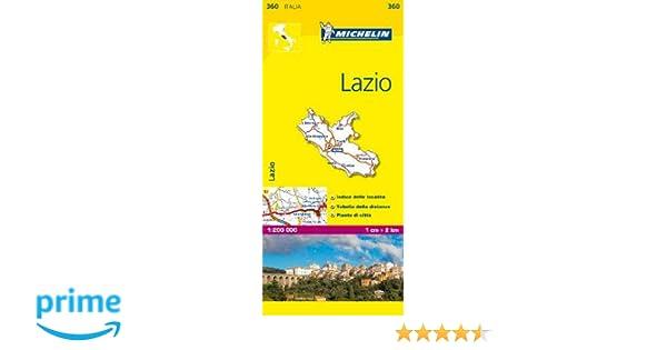 Cartina Lazio Michelin.Amazon It Lazio 1 200 000 Michelin Travel Publications Libri