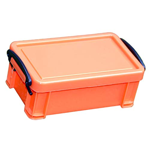 Homyl Kunststoff 0,5L Plastikbox Stapelbox Klickbox Aufbewahrungsbox mit Deckel - Orange