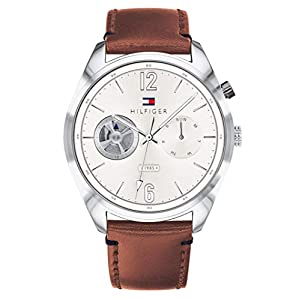 Tommy Hilfiger Mens Multi dial Quartz Watch with Leather Strap 1791550