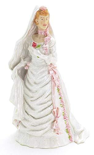 Puppenhaus Miniatur 1:12 scale Resin Menschen Lady im Hochzeitskleid Braut 8227