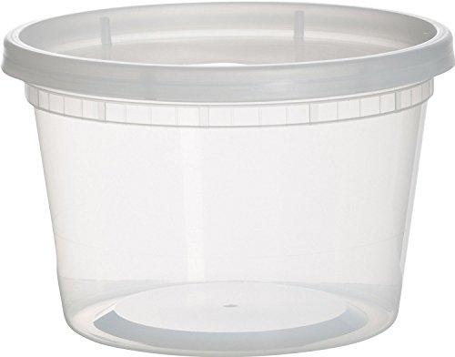 paksh Neuheit Kunststoff Behälter für Mittagessen/mittel Lebensmittel Behälter mit Deckel, Auslaufsicher, Mikrowelle, Gefrierschrank und spülmaschinenfest, 16Unze, 36Stück (Restaurant Gefrierschrank-container)