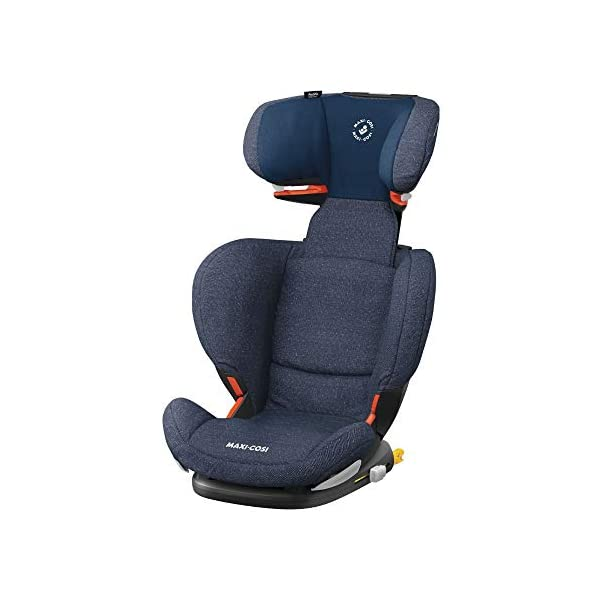 Maxi-Cosi RodiFix AirProtect Child Car Seat, ISOFIX Booster Seat, Extra Protection, 3.5-12 Years, 15-36 kg, Sparkling Blue Maxi-Cosi Outstanding side impact protection - with the combination of patented air protect technology Patented air protect technology in headrest - the risk of head and neck injuries are reduced up to 20% Quick and easy to buckle your child up with the 'easy-glide' system and clear belt routing 1