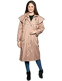 7eaa973c0e6b3 David Barry Womens Ladies Cord Storm Hooded Button Down Rain Coat Jacket