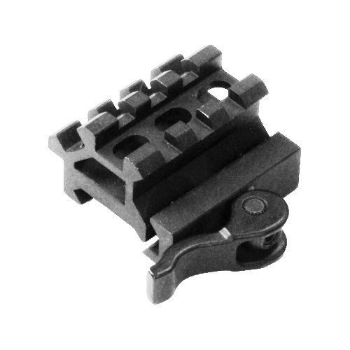 UTG 3-Slot Doppel-Schiene 45°/90° Angle Mount, für Picatinny/Weaver, QD Montage, 20mm Höhe MAD0340 (Doppel-picatinny-schienen)