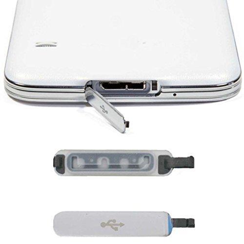 Preisvergleich Produktbild Tonsee Praktische Mobile Telefon Zubehör kostenlos Anschluss-Stecker für Samsung Galaxy S5 Ersatz USB Port Abdeckung Klappe Spitzenqualität Staub Plug