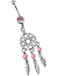 Tonsee® Anneau de nombril Dream Catcher
