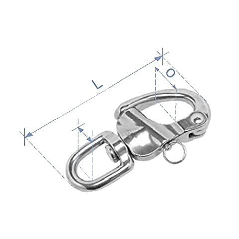 Holt A4 Stainless Steel Swivel Eye Snap Shackles