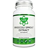 Broccoli Sprout Extract by LLS | Contains Activated Sulforaphane | 60 Capsules | 1000mg per Serving (15:1 Extract Ratio, 15,000mg Whole Plant Equivalent) | High Antioxidant Content | Premium GMP Supplement