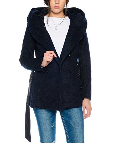 Only Woll-Mantel onlMary Lisa Short Wool Coat 15136804 XS-XL, Größe:M, Farbe:Dunkelblau