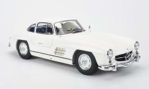 Mercedes 300 SL (W198), blanche, voiture miniature, Miniature déjà montée, Premium ClassiXXs 1:12