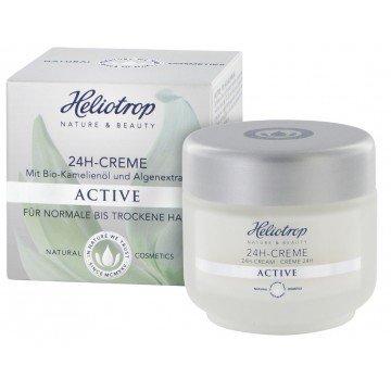 HELIOTROP Naturkosmetik ACTIVE 24h-Creme, Mit wirkungsvollem Straffungseffekt, Versorgt die Haut...