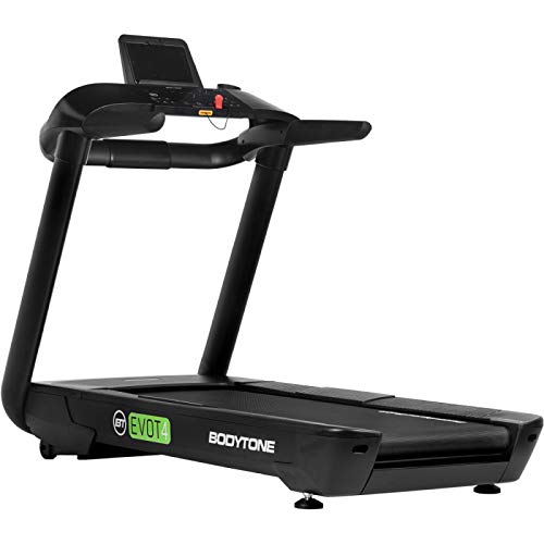 BT BODYTONE - EVOT4 - Cinta de Correr Profesional para Fitness con Pulsómetro - Pantalla Led - Conexión Bluetooth - Altavoces Integrados - Soporte para Tablet - Peso Máximo Usuario 130 kg
