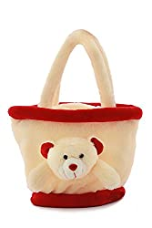 CREAM SMALL BASKET BAG - 35 CM