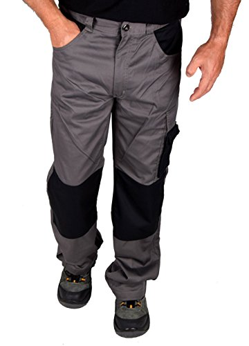 IWEA Stabile Profi Arbeitshose Bundhose Berufshose Handwerker Cargohose Arbeitskleidung IW077, 50 (Arbeitskleidung Herren)