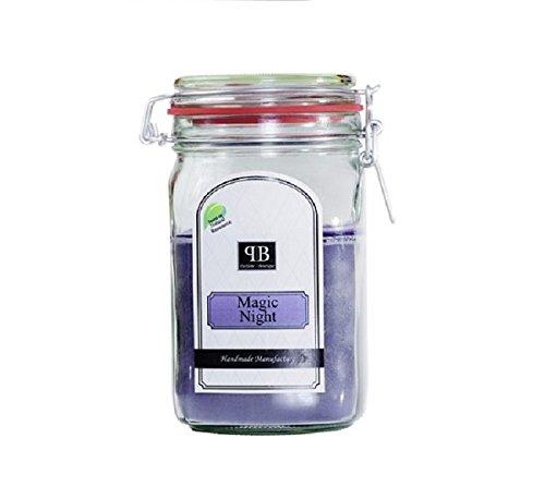 Parfüme Boutique 1112443 MN Vintage Vintage Verre – XL – Magic Night Bougie parfumée dans verre, Violet, 13 x 13 x 18 cm