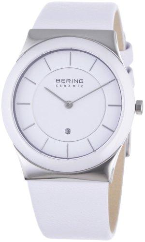 Bering Time - 32235-854 - Montre Homme - Quartz Analogique - Bracelet cuir Blanc