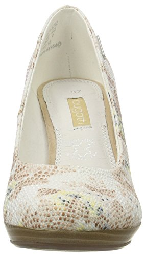 Bugatti W66746, Chaussures Avec Plate-forme Femme Blanc (weiss / Beige 222)