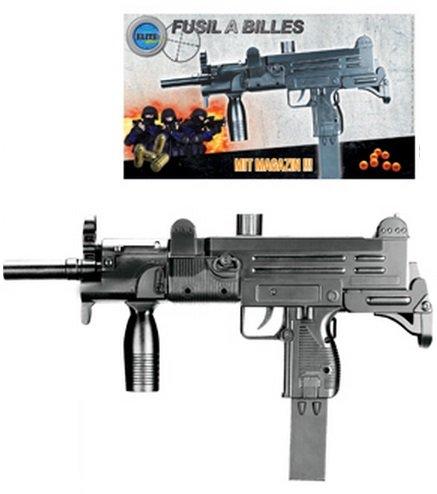 NICK and BEN Softair-Gewehr Einsteiger-Set schwarz ca. 35cm lang Federdruck unter 0,5 Joule ab 14 J. Kinder-Gewehr Spielzeug-Gewehr Air-Soft