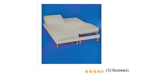 Drap-housse pour lit double articul/é 160/x 190//200 cm dimensions de chaque lit de 80/x 190//200 Cotton Art couleur /écru