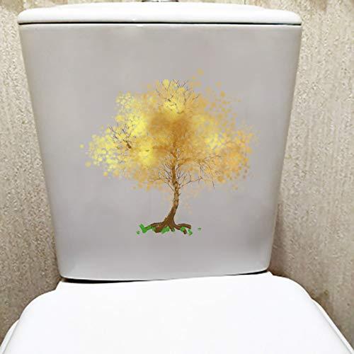 Ghdkhgksdh22,9X21 Cm Tinte Gelb Baum Kreative Toilettensitz Aufkleber Hause Raumdekoration Wandtattoo -