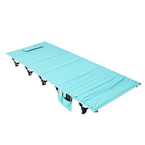Ultralight Tragbarer, faltbarer Single Camp Zelt Reisebett, Gestell Aluminium Legierung Metall Outdoor Camping Wandern Angeln Betten mit Aufbewahrungstasche für Erwachsene oder Kinder, blau