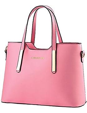 ZiXing Frauen PU Leder Handtaschen Schulter Beutel Reißverschluss Tasche Handtasche Umhängetasche Damen Hobo Bag