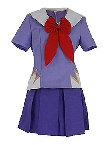 Benutzerdefinierte Link Kostüm - FTSUCQ Damen die zukunft tagebuch gasai yuno mirai nikki top und rock cosplay Lila Tag(XL)=US (8-10)