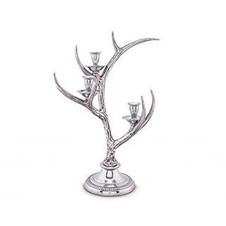 Arthur Court 3-Light Metal Antler Candlestick