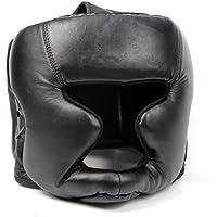 Summerwindy Sombrereria Buena Negra Guardia de Cabeza Casco de Entrenamiento Equipo de Proteccion del Boxeo Patada