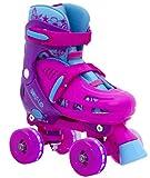 SFR Hurricane Quad verstellbare Rollschuhe LED-Rollen Mädchen pink