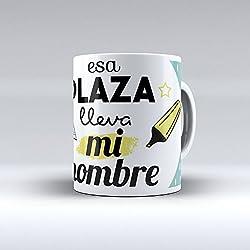 """Taza cerámica desayuno regalo original Opositor oposiciones """"Esa plaza lleva mi nombre"""""""