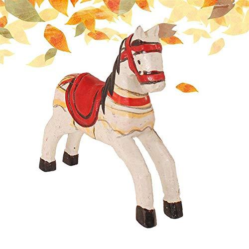 SinceY 3D Holzspielzeug Pferd Handwerk Auto Interior Display Ornamente Liefert Home Dekorationen Desktop Niedlichen Dekor Für Kinder Erwachsene