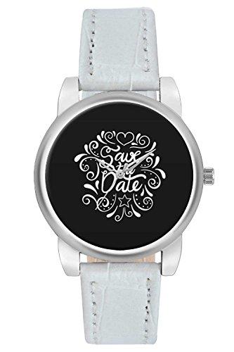 Women's Watch, BigOwl Save the date black Designer Analog Wrist Watch For Women - Gifts for her - Designer dials