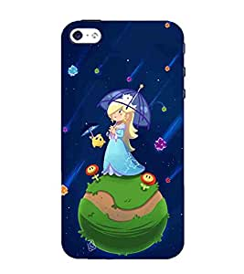 For Apple iPhone 5 :: Apple iPhone 5S beautiful girl with umbrella, alone girl, cute girl, girl Designer Printed High Quality Smooth Matte Protective Mobile Pouch Back Case Cover by BUZZWORLD