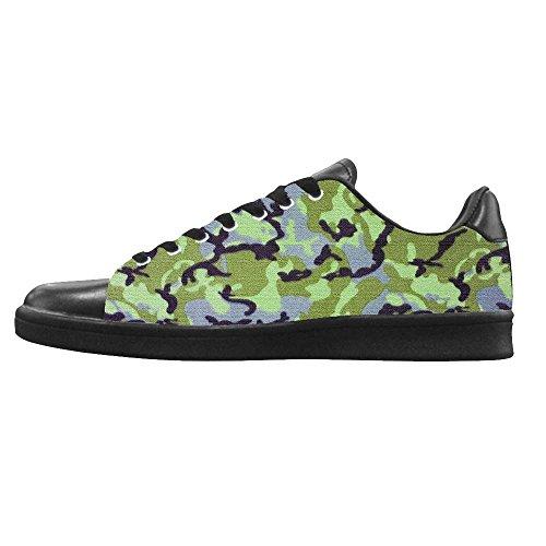Dalliy tarnung Women's Canvas shoes Schuhe Lace-up High-top Footwear Sneakers (Cougar-frauen-schuhe)