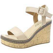 Sandalias Mujer Verano, ❤️ Manadlian Sandalias de Verano Mujer Zapatos de Tacón Grueso Zapatos de Tacón Alto Zapatos de Playa Calzado Zapatillas Mujer Sneakers