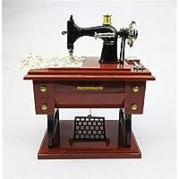 shunlidas Suerte Mopec Decorativas Máquina De Coser De Madera De Imitación Vintage Modelo Caja De Música