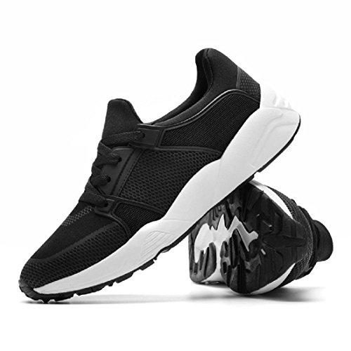 Uomo Scarpe sportive traspirante Scarpe casual formatori È aumentato Scarpe da ginnastica Scarpe da corsa euro DIMENSIONE 39-44 Black
