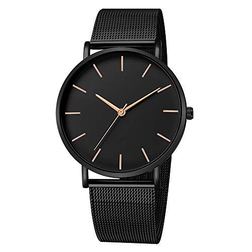 Makefortune, Herrenuhren wasserdicht einfache Uhren, Fashion Business Edelstahlarmband Mesh Uhren, minimalistischen Stil Männer Armbanduhr mit 13 Farben -