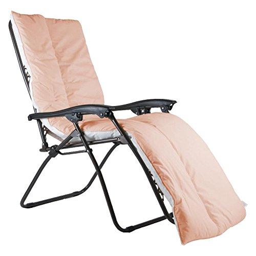 UK Care Direct de Luxe Coussin de Chaise Longue Décoration pour résistant à l'eau pour Fauteuil inclinable de Jardin terrasse, fabriquée au Royaume-Uni Sunshine Orange