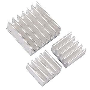 3 PC dissipatore di calore di raffreddamento in alluminio dissipatori per Raspberry Pi ver. 2.0 modello B e VGA RAM Memory Cooler