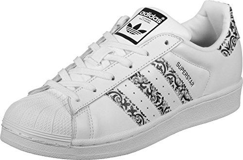 adidas Superstar W, Zapatillas de Deporte para Mujer, Blanco (Ftwbla / Negbas / Ftwbla), 37 1/3 EU