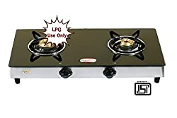 brightflame Tulip 2 Burner Glass Top Gas Stove Auto Ignition for LPG Customers