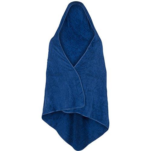 Theramaxx Drachentuch (Kapuzentuch für Erwachsene), 160 x 150 cm, 100{d15f6a1f013c92e6e751cd627af1b4c2bbc26b9f8002f0d97f9d709dd6bd8c72} Frottee-Baumwolle, blau, bis 1,64 m Körperhöhe