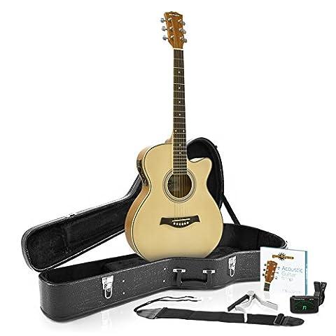 Single Cutaway Elektro-akustisches Gitarren-Gig-Set (Single Cutaway Gitarre)