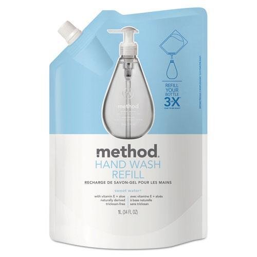 method-products-00652-gel-hand-wash-refill-34-oz-sweet-water-scent-plastic-pouch-by-method-by-method